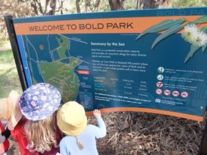 Welcome to Bold Park Sign | Quintilian Children enjoy birdwatching and other nature activities.